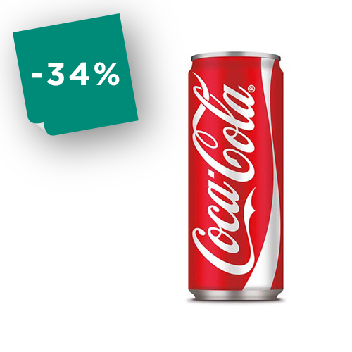Bibita Coca Cola in lattina  33 cl - cf. 24 pezzi