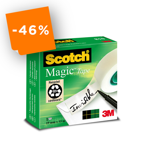 Nastro adesivo Scotch® 3M Magic 810  mm 19x33 mt