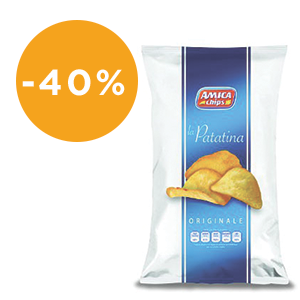 Patatine Amica Chips  50 gr - cf. 21 pezzi